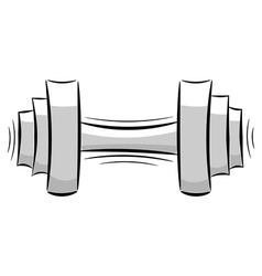 Cartoon dumbbell eps10 vector image vector image