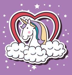 cute unicorn pop art vector image