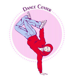 Dance line color break dance vector