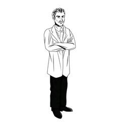 Doctor man professional practicioner standing vector
