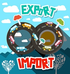 Export Import Infinity Road with Abstract vector image