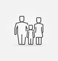 family outline icon vector image vector image