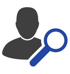 find user flat icon vector image