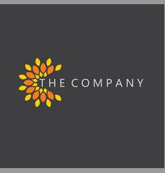 flower logo leaf ideas design vector image