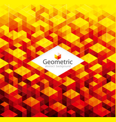 geometric red background vector image vector image