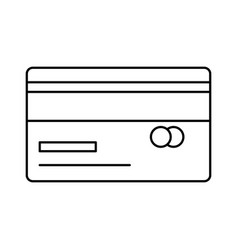 Isolated credit card design vector