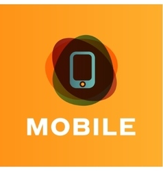 mobile phone of the trend in vector image vector image