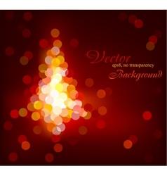 Modern Christmas glittering tree vector image