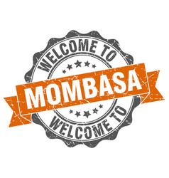 mombasa round ribbon seal vector image vector image
