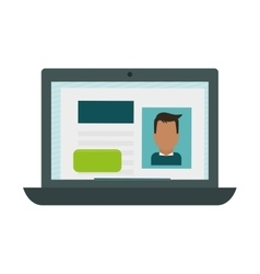 Open laptop icon image vector