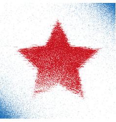 Red grunge stars vector