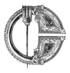 Royal tara brooch bronze vintage engraving vector