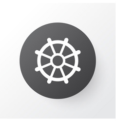 Rudder icon symbol premium quality isolated boat vector
