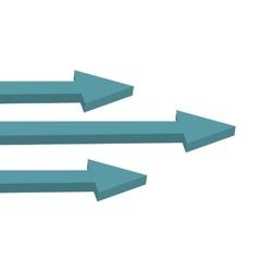 three right arrows icon vector image