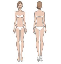 Woman fashion template vector