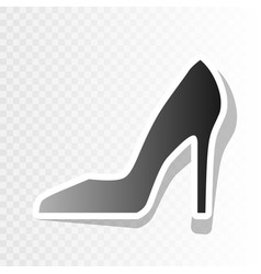 Woman shoe sign new year blackish icon on vector
