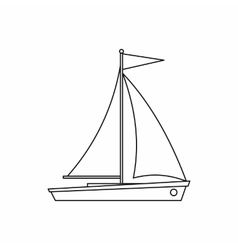 Yacht icon outline style vector image vector image