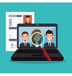 Virtual human resources recruit design isolated vector