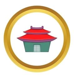 Asian pagoda icon vector