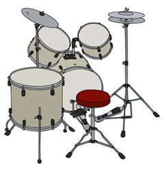 Cream percussion set vector