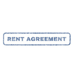 Rent agreement textile stamp vector