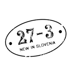 New in slovenia rubber stamp vector