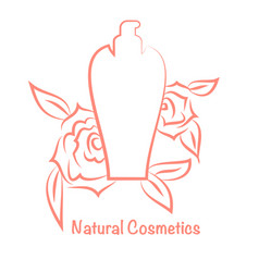 Bottle for cosmeticsperfume template vector