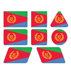 Buttons with flag of eritrea vector