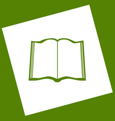 Book sign  white icon obtained as a result vector