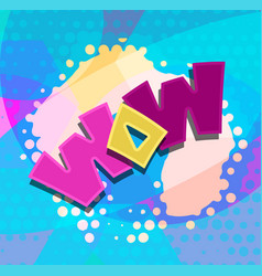 Wow word text blobs vector