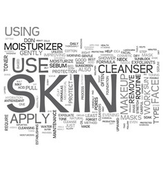 Effective tips for daily skin care text vector