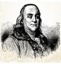 benjamin franklin vector image