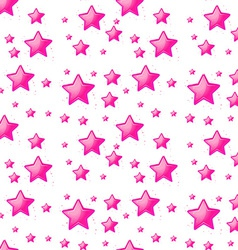 Seamless design with pink stars vector
