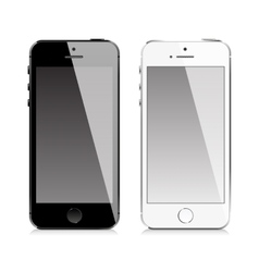 Mobile phone similar to iphone style vector