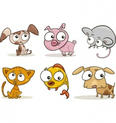 cute pets vector image