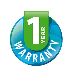 Logo round 1 year warranty vector