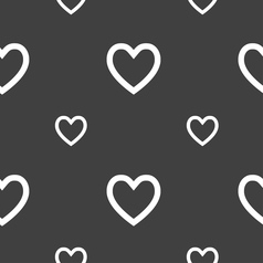 Medical heart love icon sign seamless pattern on a vector
