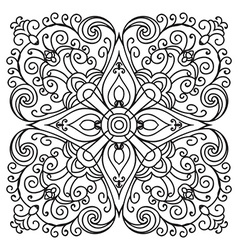 Hand drawing zentangle mandala element italian vector