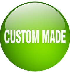 Custom made green round gel isolated push button vector