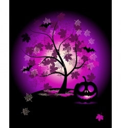 halloween pumpkin illustration vector image