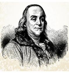 benjamin franklin vector image vector image