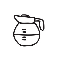 Carafe sketch icon vector