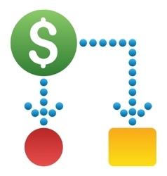 Cash flow scheme gradient icon vector