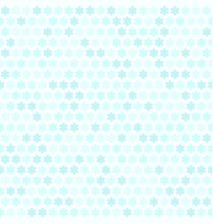 cyan flower pattern seamless vector image