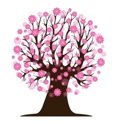 Decorative beautiful cherry blossom tree vector