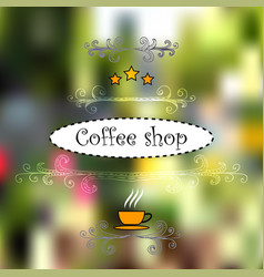 design for cofee shops vector image