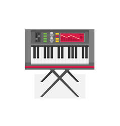 electric piano flat vector image