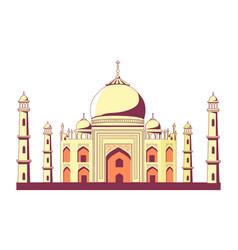 Famous indian building of taj mahal vector