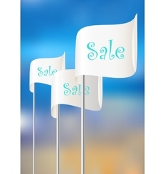 Flags for sales actions vector image vector image
