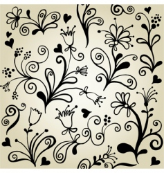 floralwallpaper pattern vector image